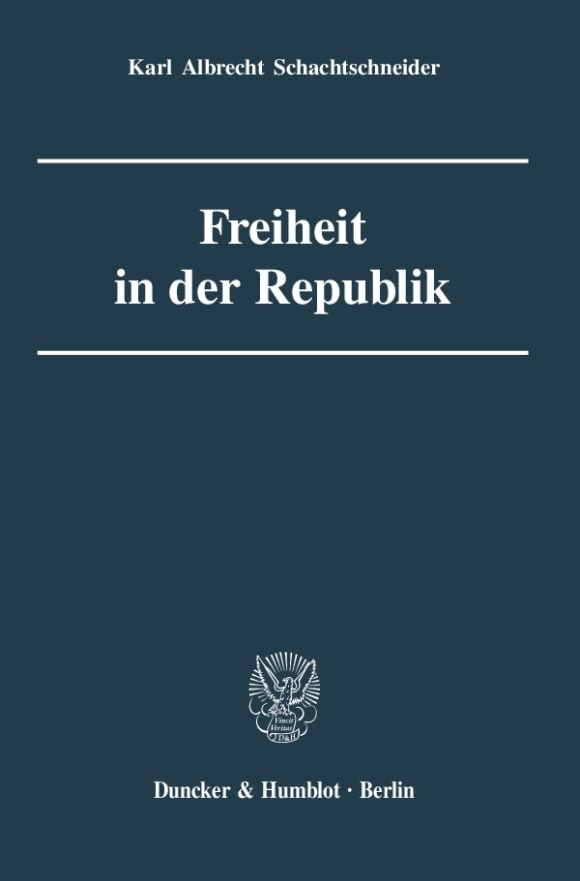 Cover Freiheit in der Republik