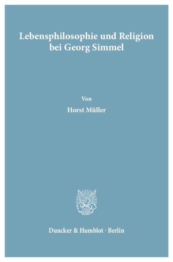 Cover Lebensphilosophie und Religion bei Georg Simmel