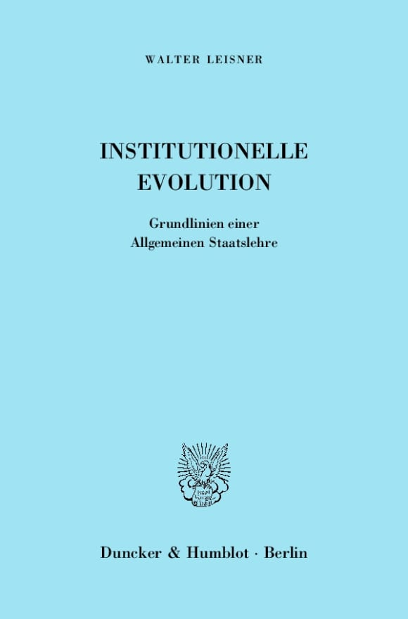 Cover Institutionelle Evolution