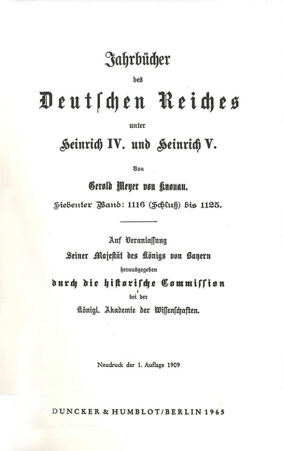 Cover Jahrbücher des Deutschen Reiches unter Heinrich IV. und Heinrich V