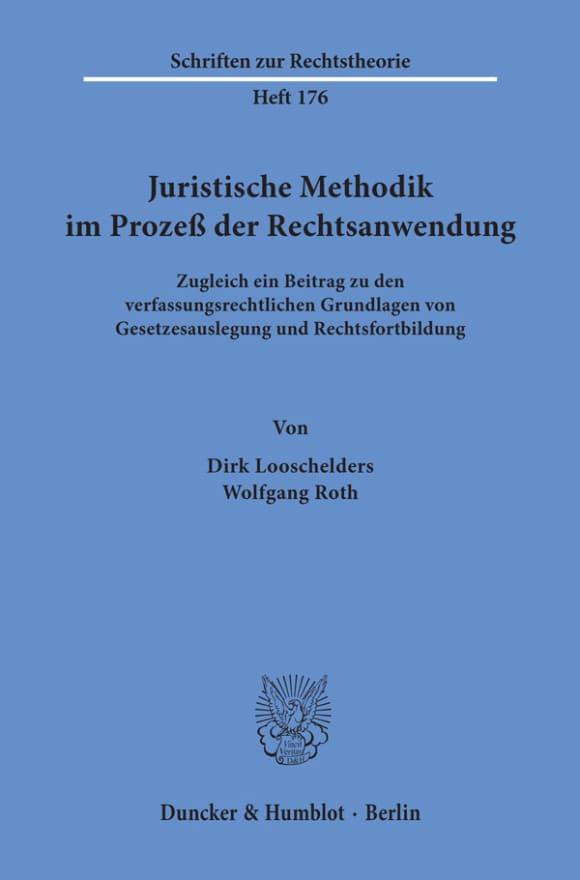 Cover Juristische Methodik im Prozeß der Rechtsanwendung