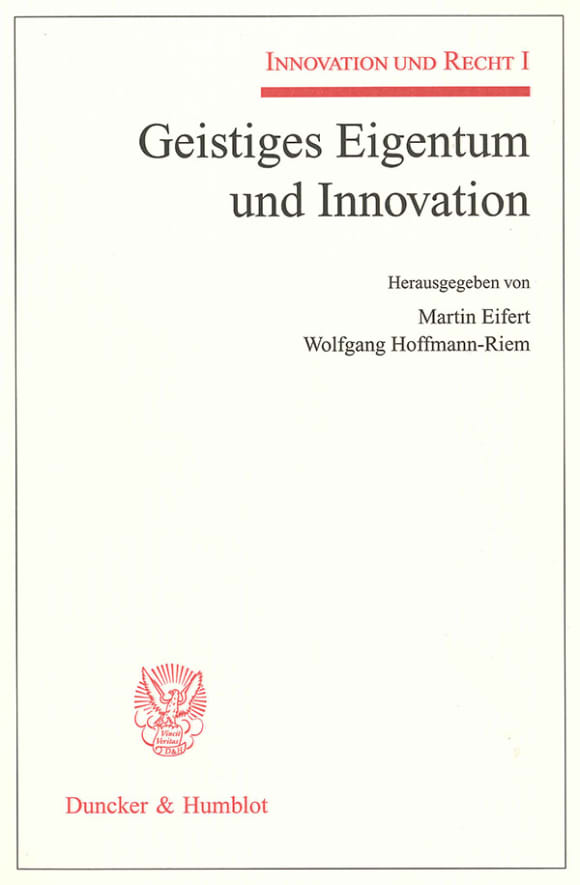 Cover Innovation und Recht. 4 Bände