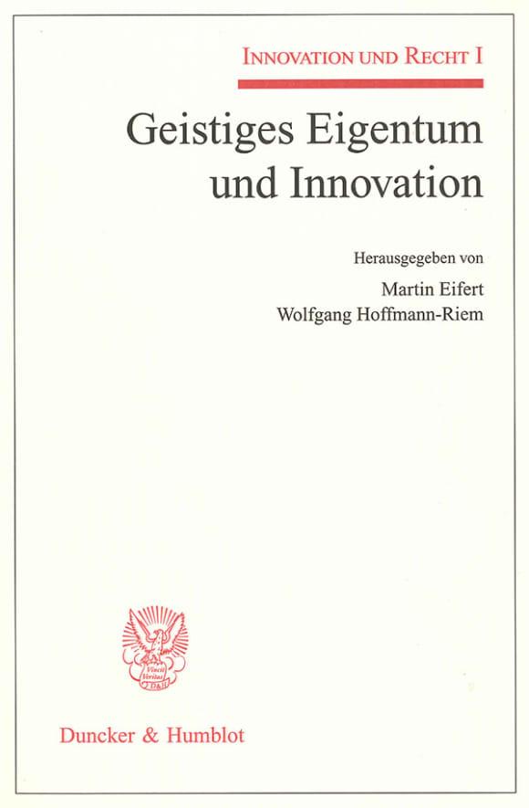 Cover Geistiges Eigentum und Innovation