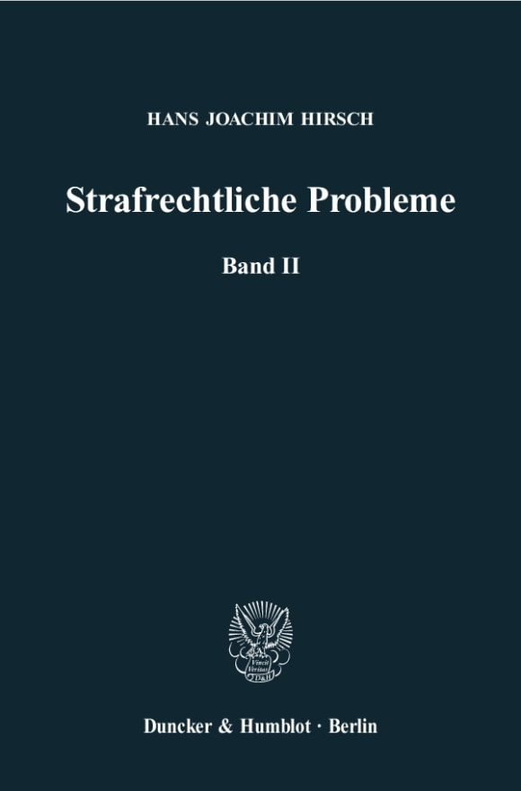 Cover Strafrechtliche Probleme