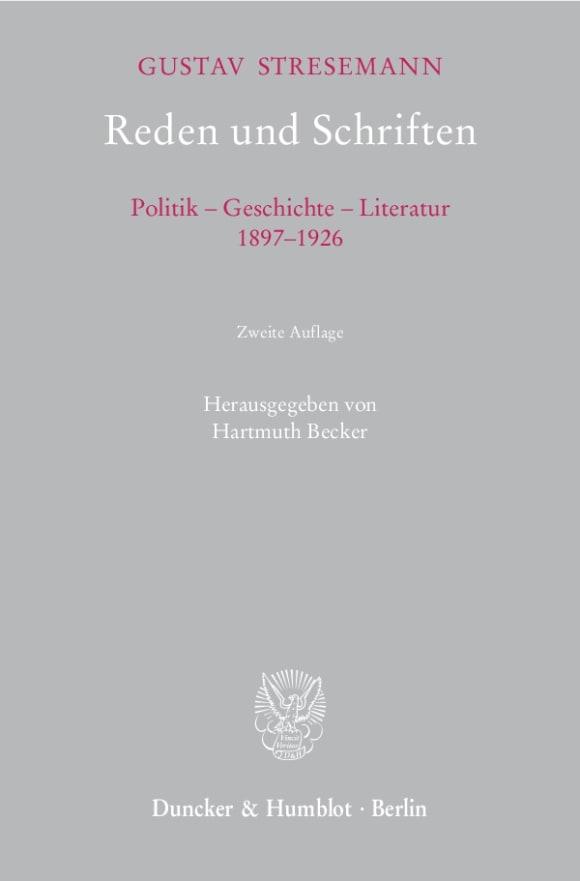 Cover Reden und Schriften