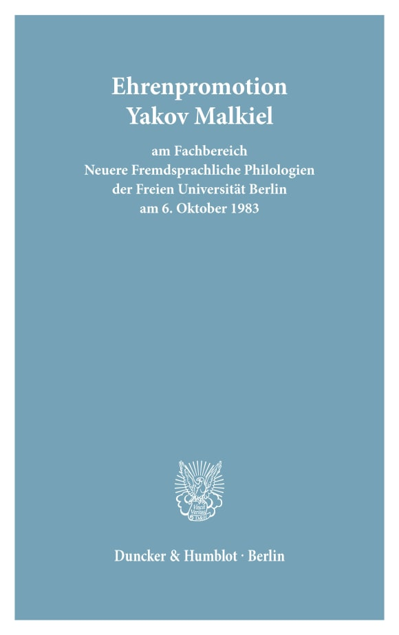 Cover Freie Universität Berlin - Universitätsreden (FU REDEN)