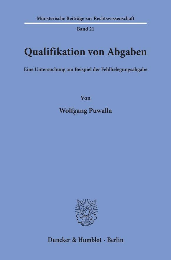 Cover Qualifikation von Abgaben