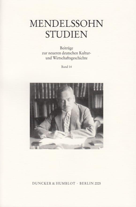 Cover Mendelssohn-Studien (MST)