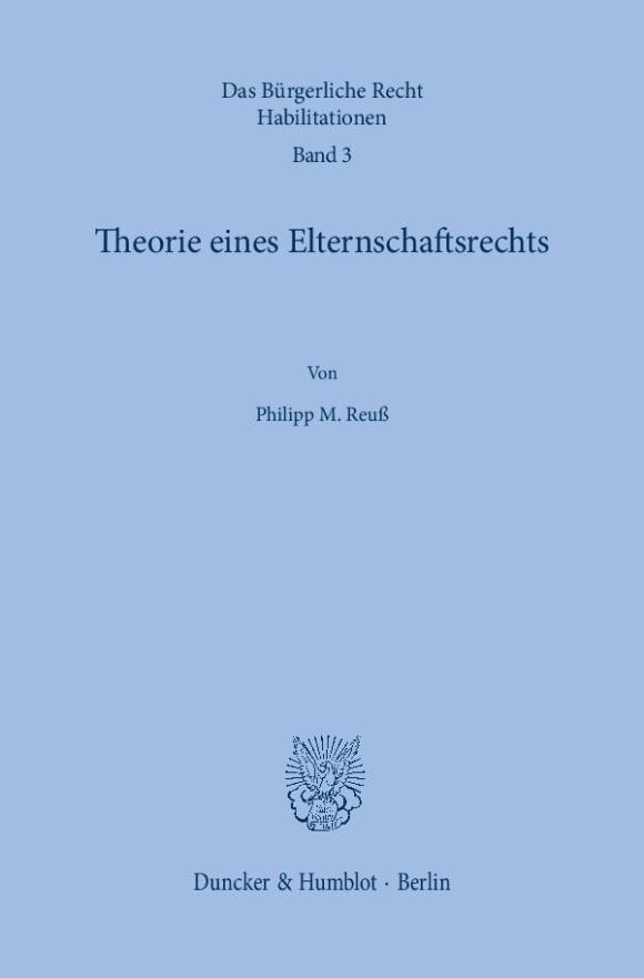 Cover Das Bürgerliche Recht. Habilitationen (BRH)