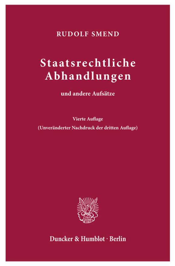 Cover Staatsrechtliche Abhandlungen