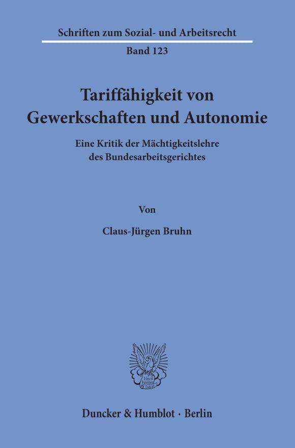 Cover Tariffähigkeit von Gewerkschaften und Autonomie