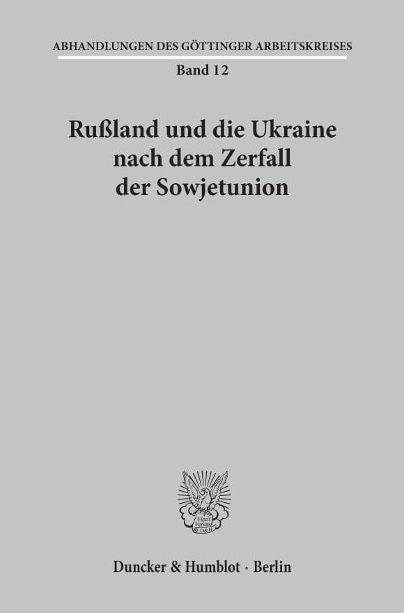 Cover Abhandlungen des Göttinger Arbeitskreises (GAK)
