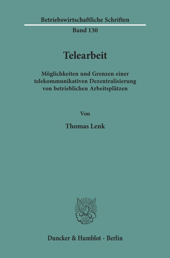 Cover Telearbeit