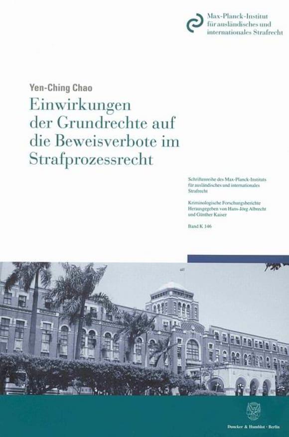 Cover Einwirkungen der Grundrechte auf die Beweisverbote im Strafprozessrecht