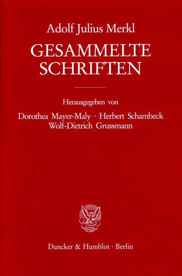 Cover Gesammelte Schriften. 3 Bände (6 Teilbände)