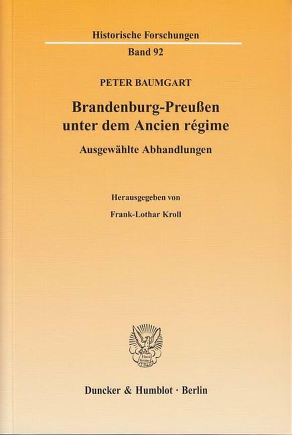 Cover Brandenburg-Preußen unter dem Ancien régime