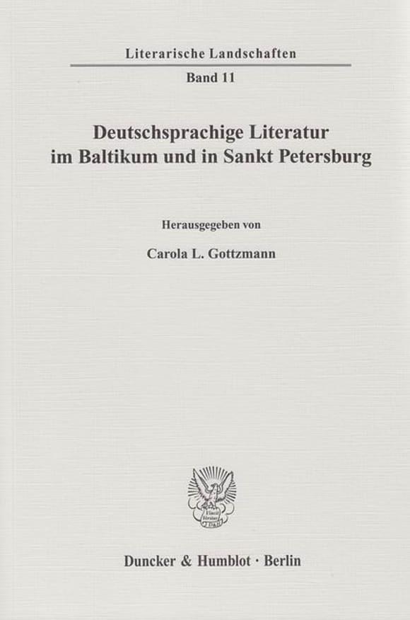 Cover Deutschsprachige Literatur im Baltikum und in Sankt Petersburg