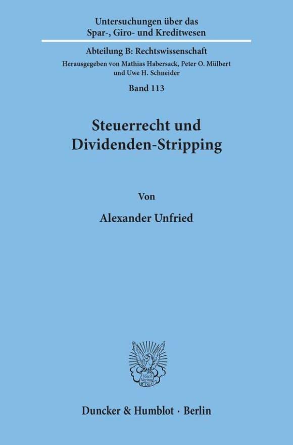 Cover Steuerrecht und Dividenden-Stripping