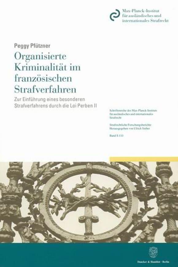 Cover Organisierte Kriminalität im französischen Strafverfahren
