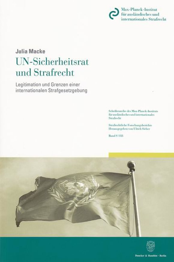 Cover UN-Sicherheitsrat und Strafrecht