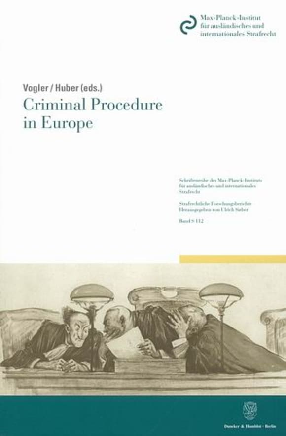 Cover Criminal Procedure in Europe