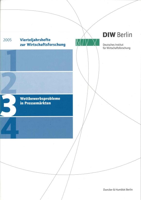 Cover Wettbewerbsprobleme in Pressemärkten (VJH 3/2005)