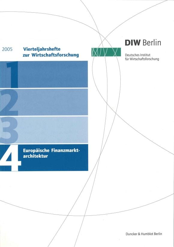 Cover Europäische Finanzmarktarchitektur (VJH 4/2005)