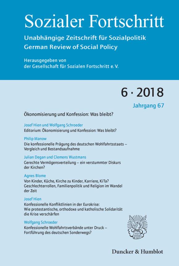 Cover Ökonomisierung und Konfession: Was bleibt? (SF 6/2018)
