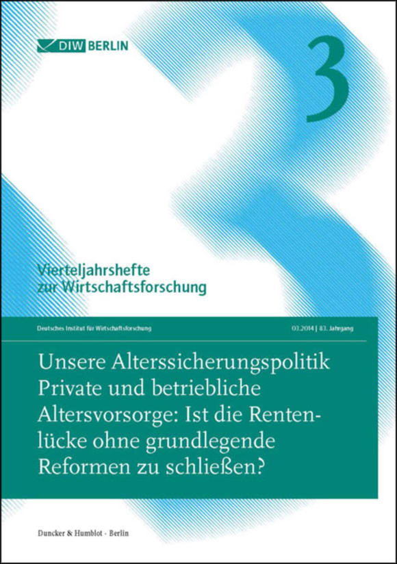 Cover Unsere Alterssicherungspolitik (VJH 3/2014)