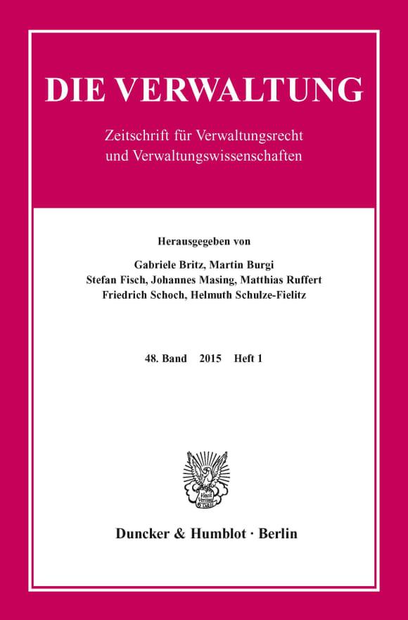 Cover VERW 1/2015