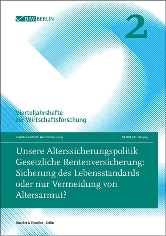 Cover Unsere Alterssicherungspolitik (VJH 2/2014)