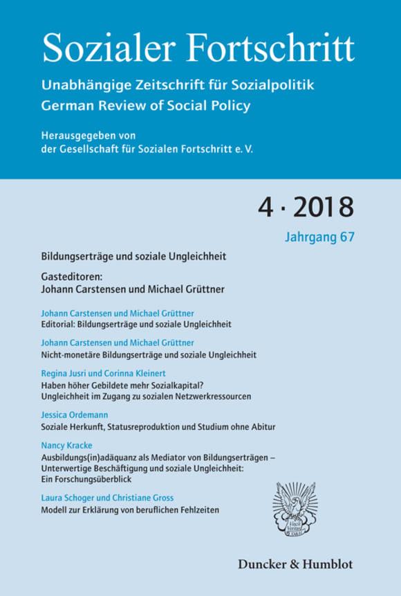 Cover Bildungserträge und soziale Ungleichheit (SF 4/2018)
