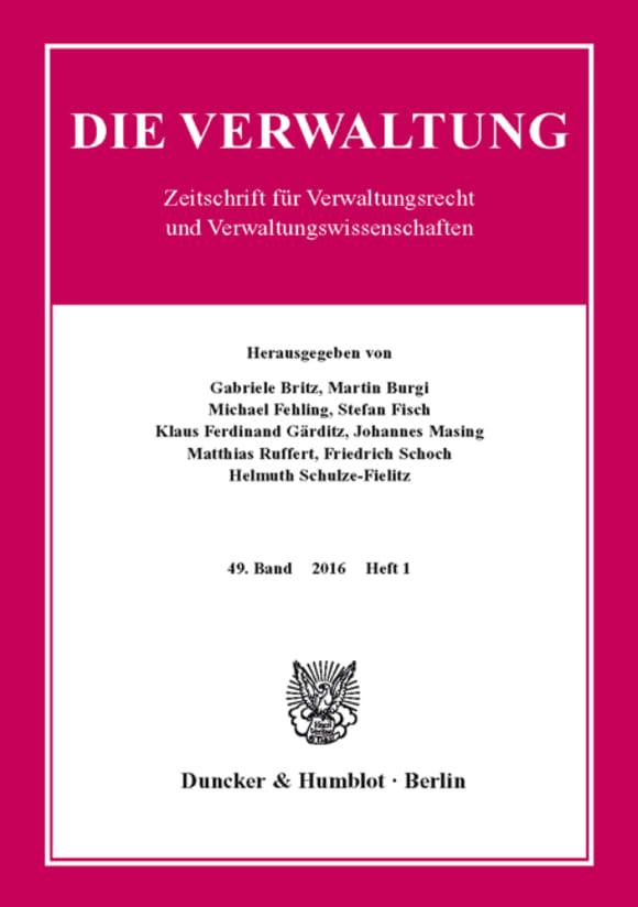 Cover VERW 1/2016