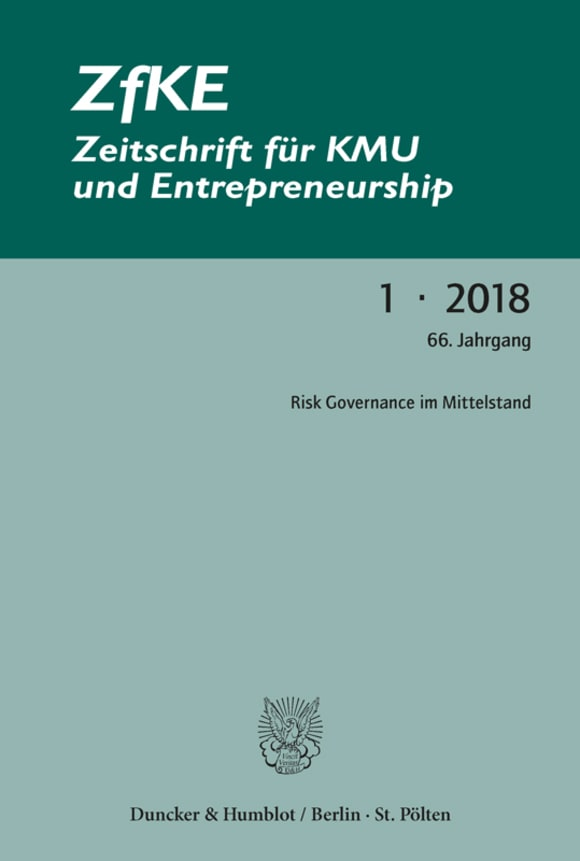 Cover Risk Governance im Mittelstand (ZfKE 1/2018)