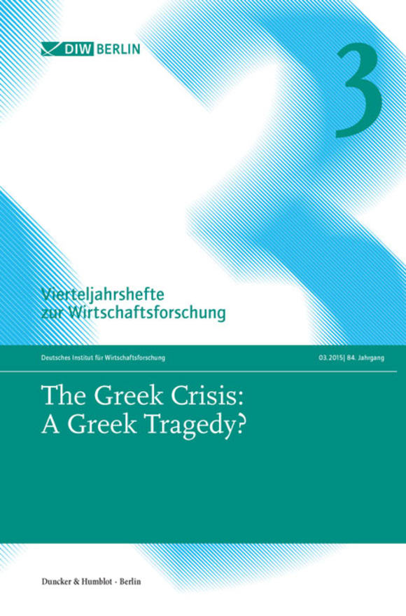 Cover The Greek Crisis: A Greek Tragedy? (VJH 3/2015)