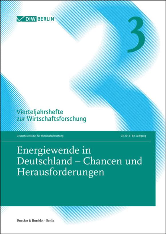 Cover Energiewende in Deutschland – Chancen und Herausforderungen (VJH 3/2013)