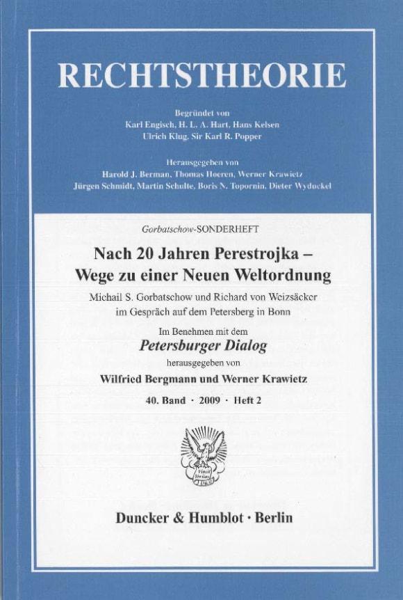 Cover Nach 20 Jahren Perestrojka – Wege zu einer Neuen Weltordnung (RT 2/2009)