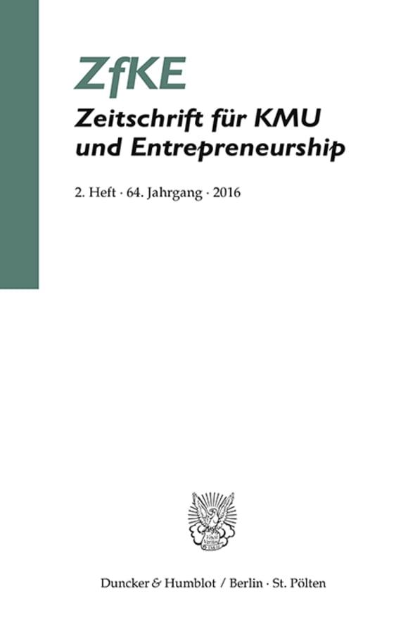 Cover ZfKE 2/2016