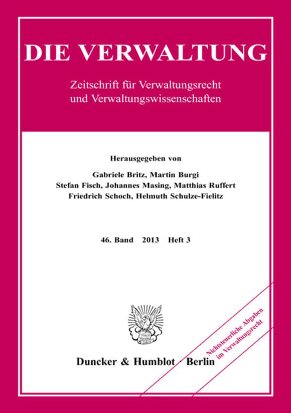 Cover Nichtsteuerliche Abgaben im Verwaltungsrecht (VERW 3/2013)