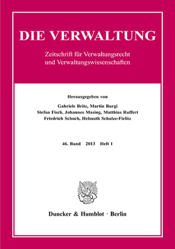 Cover VERW 1/2013