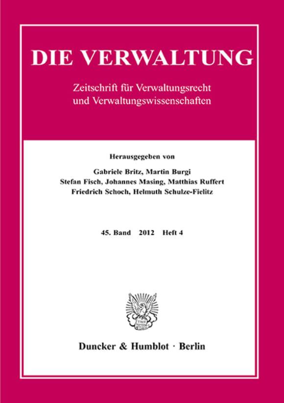 Cover VERW 4/2012