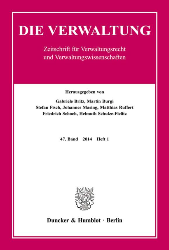 Cover VERW 1/2014