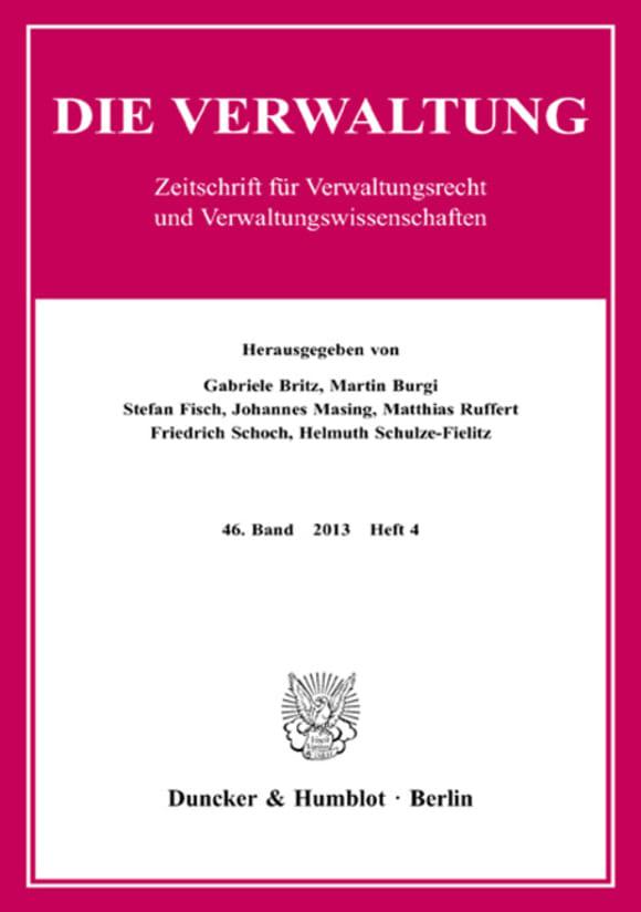 Cover VERW 4/2013
