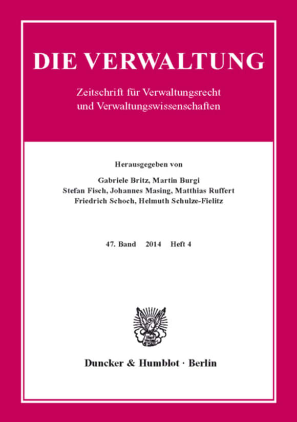 Cover VERW 4/2014