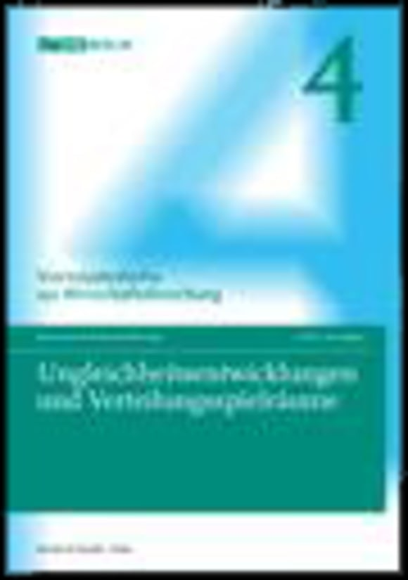 Cover Ungleichheitsentwicklungen und Verteilungsspielräume (VJH 4/2011)