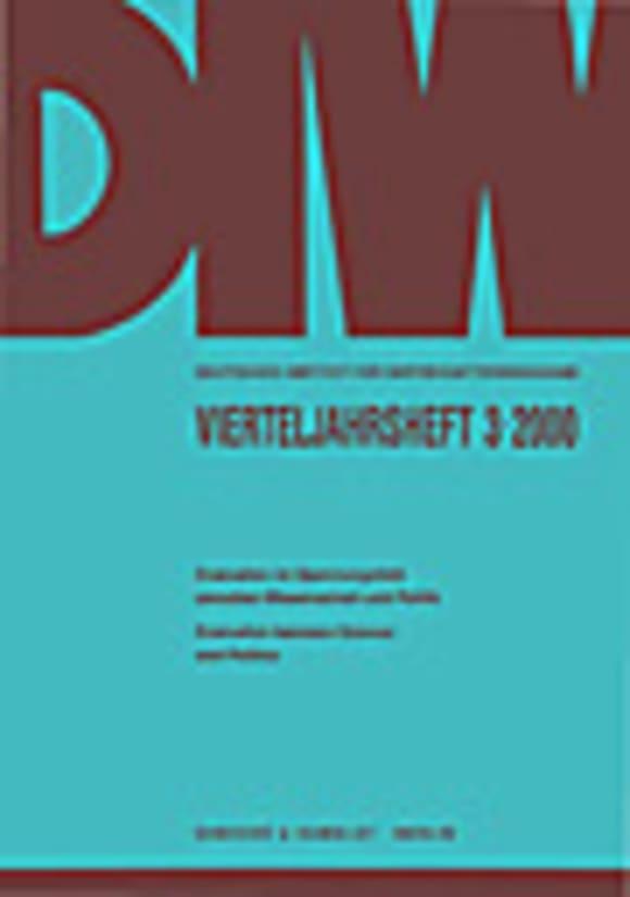 Cover Evaluation im Spannungsfeld zwischen Wissenschaft und Politik / Evaluation between Science and Politics (VJH 3/2000)