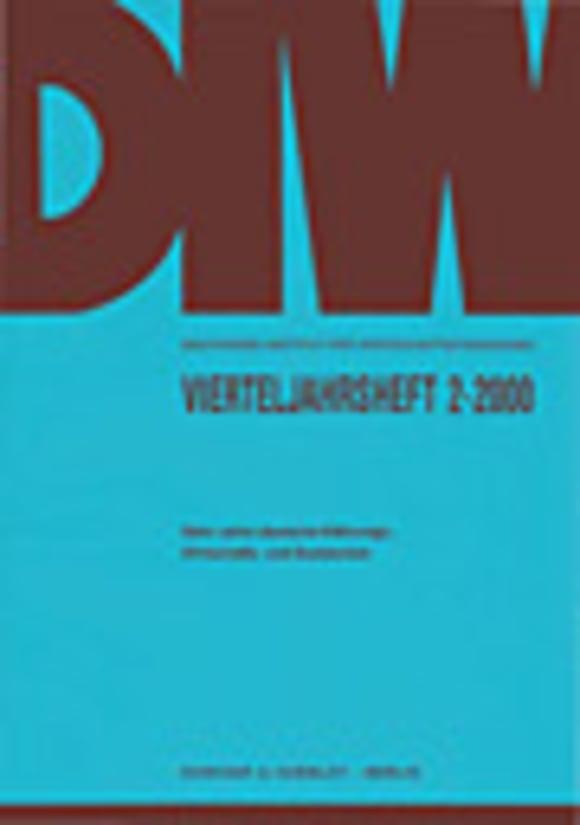 Cover Zehn Jahre deutsche Währungs-, Wirtschafts- und Sozialunion (VJH 2/2000)