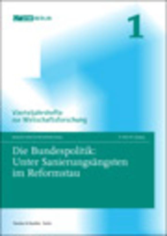 Cover Die Bundespolitik: Unter Sanierungsängsten im Reformstau (VJH 1/2010)