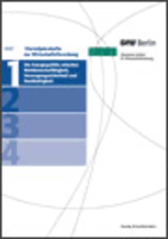 Cover Die Energiepolitik zwischen Wettbewerbsfähigkeit, Versorgungssicherheit und Nachhaltigkeit (VJH 1/2007)