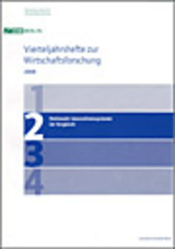 Cover Nationale Innovationssysteme im Vergleich (VJH 2/2008)
